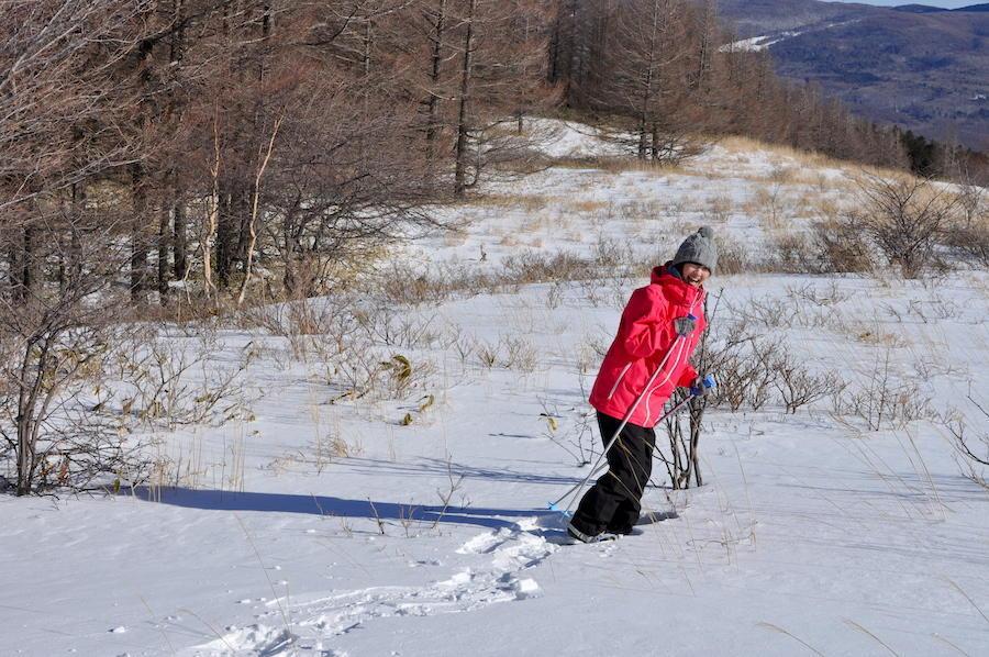 雪山を歩く<br>「スノーシュートレッキング」